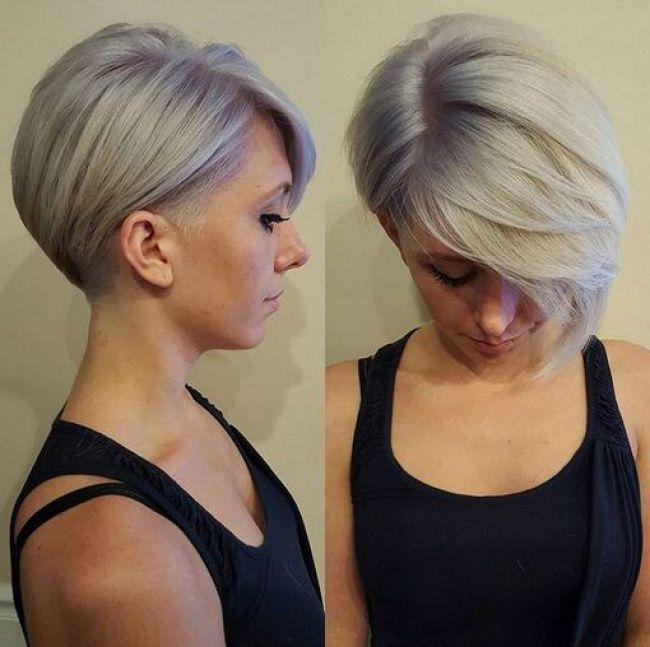 Coupe ultra courte femme cheveux gris