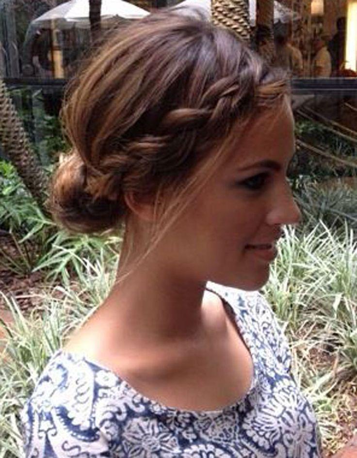 Coiffures de mariage pour boucles cheveux courts