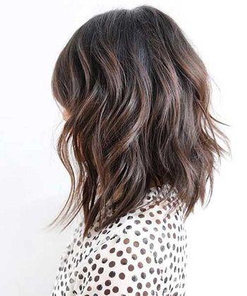 Coupe de cheveux mi long degrade et effile