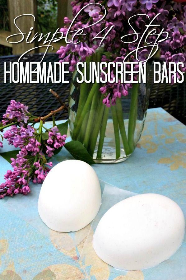 Diy masque recettes de soins de la peau bricolage barres de cr me solaire maison pr t pour - Creme solaire maison ...