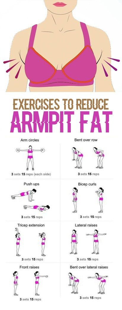 How to burn fat under the armpits