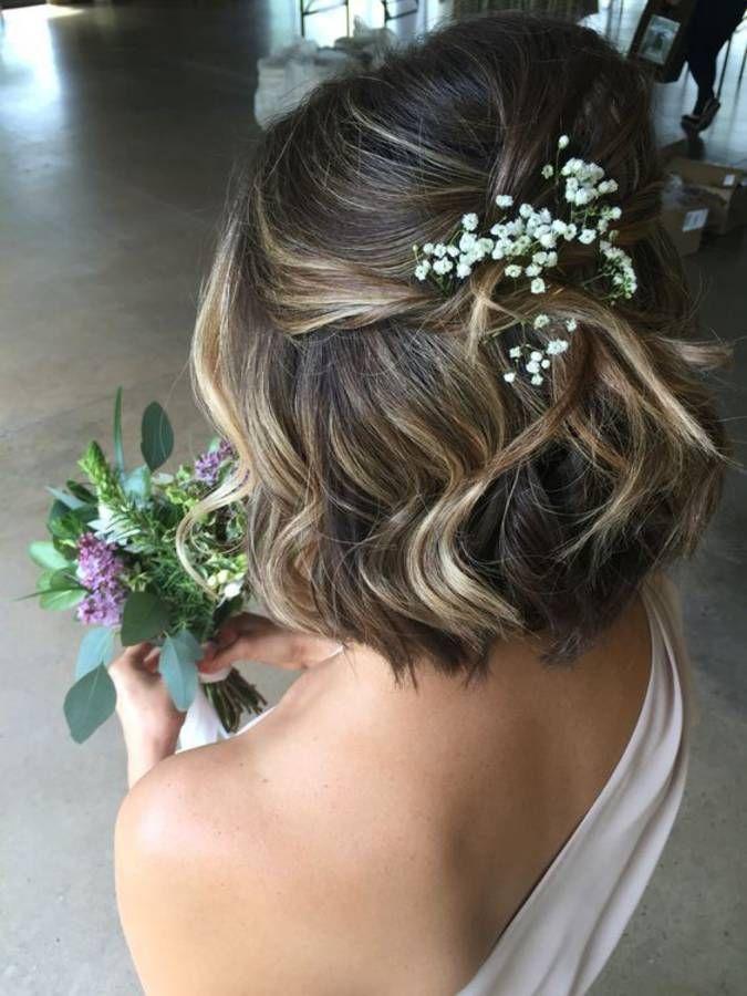 Les 25 meilleures idées de la catégorie Coiffure mariage cheveux courts sur  Pinterest