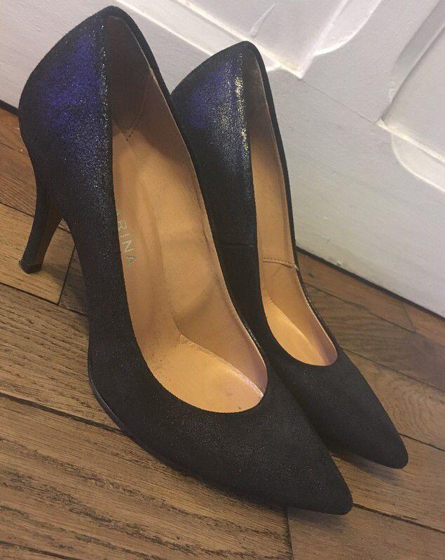 tendance chaussures 2017 2018 escarpins noirs iris s. Black Bedroom Furniture Sets. Home Design Ideas