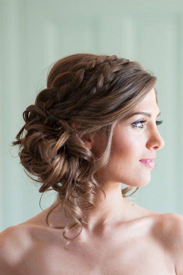Chignon mariage facile cheveux mi long