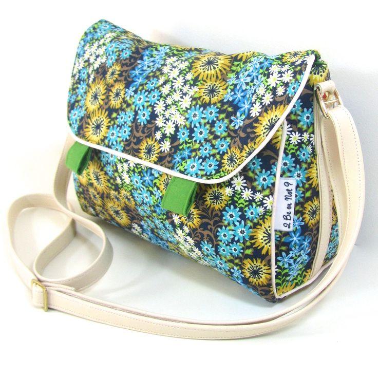 tendance sac 2017 2018 sac besace femme marguerite en tissu coton imprim fleurs sacs. Black Bedroom Furniture Sets. Home Design Ideas