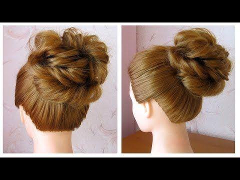 id e tendance coupe coiffure femme 2017 2018 messy bun chignon cheveux mi long facile. Black Bedroom Furniture Sets. Home Design Ideas