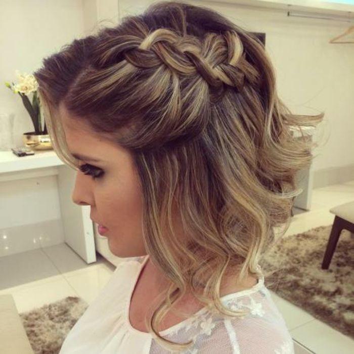 Description. Mariage coiffure mariage tresse