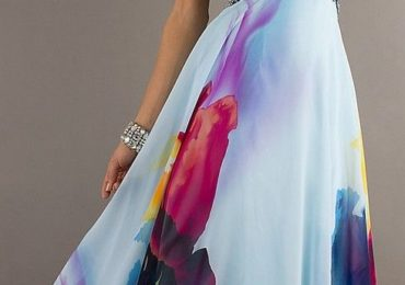 45552e00f213 Tendance Robe De Mariée 2017  2018   Strapless Print Prom Gown by Jasz ♥✤