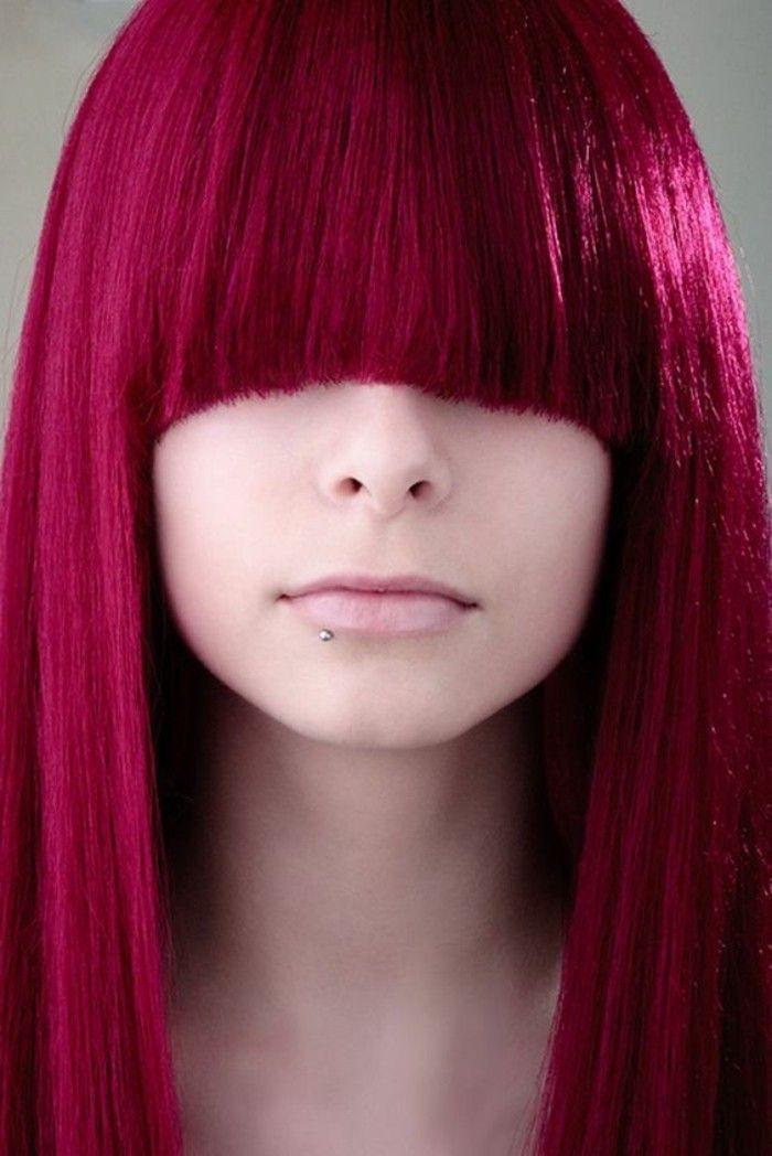Description. coloration cheveux rouge