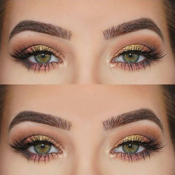 Description. maquillage pour les yeux verts